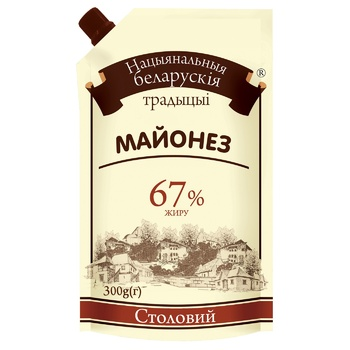 National Belarusian Traditions Stolovy Mayonnaise 67% 300g - buy, prices for EKO Market - photo 1