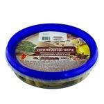 Пресервы Ашан Сельдь филе кусочки в масле с ароматом душистых трав 180г