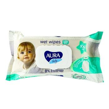 Aura Baby XXL Wet Wipes 120pcs - buy, prices for CityMarket - photo 1