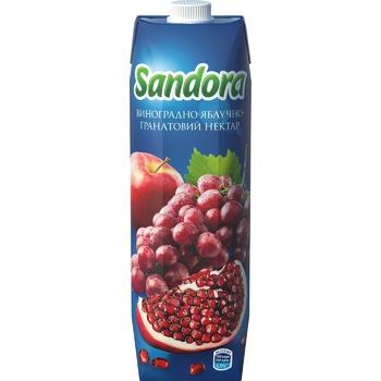 Нектар Sandora виноградно-яблочно-гранатовый 0,95л - купить, цены на Метро - фото 3