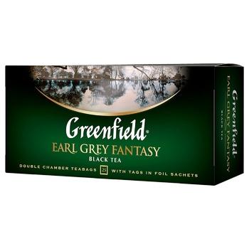 Чай чорний Greenfield Earl Grey Fantasy з бергамотом 2г*25шт - купити, ціни на ЕКО Маркет - фото 1