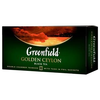 Чай черный Greenfield Golden Ceylon 25шт 2г - купить, цены на Novus - фото 2