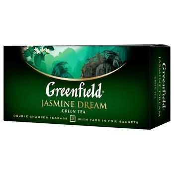 Чай зеленый Greenfield Jasmin Dream 25шт 2г - купить, цены на Ашан - фото 2