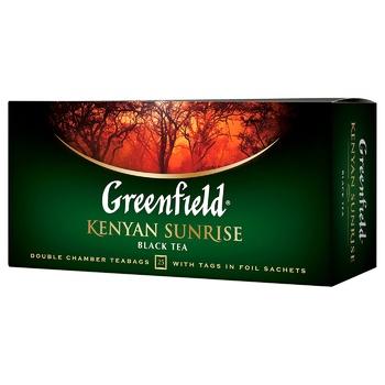 Чай чорний Greenfield Kenyan Sunrise в пакетиках 2г х 25шт