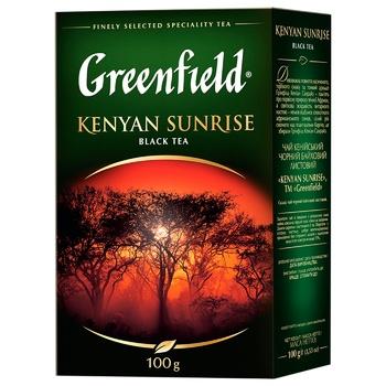 Чай черный Greenfield Kenyan Sunrise 100г - купить, цены на ЕКО Маркет - фото 1