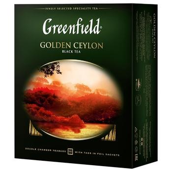 Чай черный Greenfield Golden Ceylon 2г 100шт