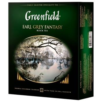 Чай Greenfield Earl Grey Fantasy черный с бергамотом 2г х 100шт