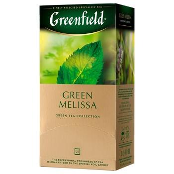 Чай зелений Greenfield Green Melissa 1,5г х 25шт - купити, ціни на Метро - фото 1
