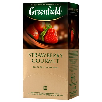 Чай черный Greenfield Strawberry Gourmet 25шт 1,5г