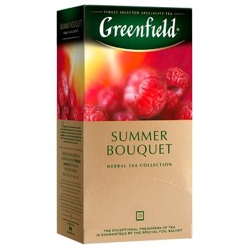 Чай травяной Greenfield Summer Bouquet со вкусом малины в пакетиках 2г x 25шт - купить, цены на СитиМаркет - фото 2