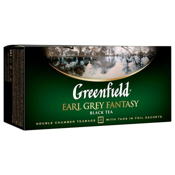 Чай чорний Greenfield Earl Grey Fantasy з бергамотом 2г*25шт - купити, ціни на ЕКО Маркет - фото 2