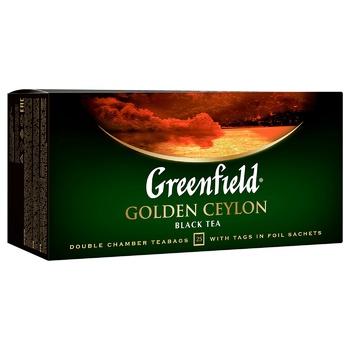 Чай чёрный Greenfield Golden Ceylon 2г х 25шт - купить, цены на Метро - фото 2