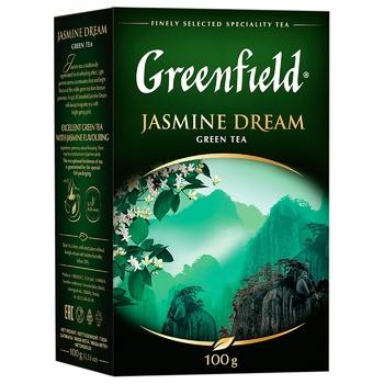 Чай Greenfield Jasmine Dream зеленый с жасмином листовой 100г - купить, цены на ЕКО Маркет - фото 2