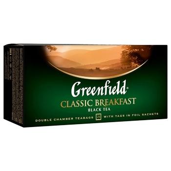 Чай черный Greenfield Classic Breakfast 2г*25шт - купить, цены на Метро - фото 2