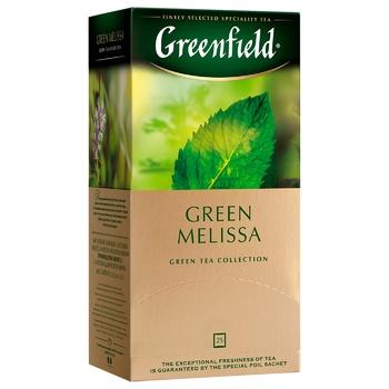 Чай зелений Greenfield Green Melissa 37,5г 25шт - купити, ціни на Ашан - фото 3
