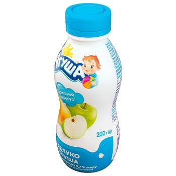 Йогурт Агуша для дітей яблуко-груша з 8 місяців 2.7% 200г - купити, ціни на ЕКО Маркет - фото 2