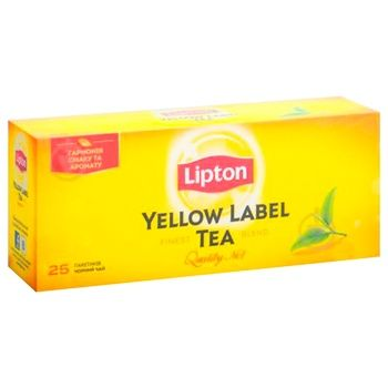 Чай чорний Lipton Yellow Label в пакетиках 25х2г - купити, ціни на Ашан - фото 3