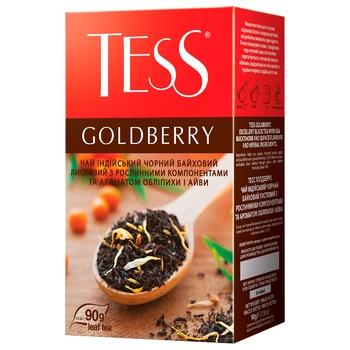 Чай чорний Tess Goldberry 90г - купити, ціни на МегаМаркет - фото 1