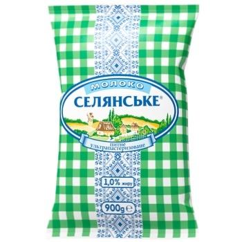 Selyanske Ultrapasteurized Milk 1% 900g - buy, prices for CityMarket - photo 1