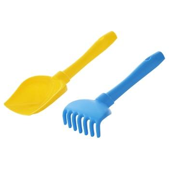 Набір для піску Полісся №72 лопатка+граблі - купити, ціни на Ашан - фото 3