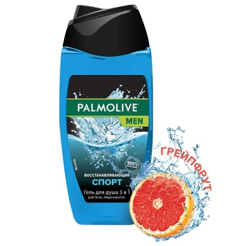 Palmolive Men Sport Regenerating Men's 3in1 Shampoo-gel for Body, Face and Hair 250ml - buy, prices for CityMarket - photo 2