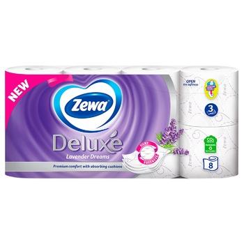 Туалетная бумага Zewa Deluxe Лаванда трехслойная 8шт - купить, цены на МегаМаркет - фото 2