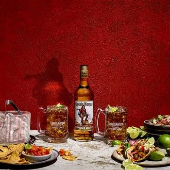 Напій алкогольний Captain Morgan Spiced Gold на основі Карибського рому 35% 1л - купити, ціни на Novus - фото 2