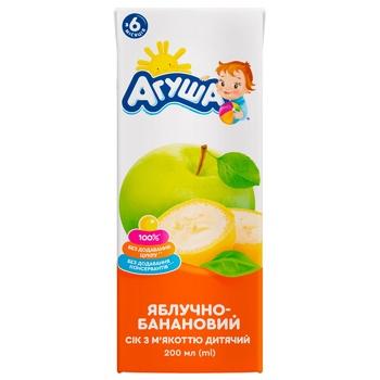 Сок Агуша яблочно-банановый с мякотью для детей с 6 месяцев 200мл - купить, цены на Ашан - фото 2