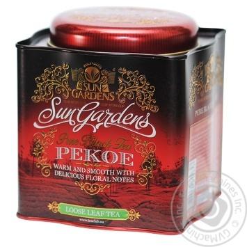 Чай черный Sun Gardens Pekoe ж/б 200г - купить, цены на Ашан - фото 1