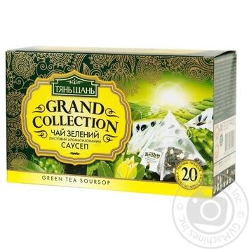 Чай Тянь Шань зеленый листовой ароматизированный саусеп 20*2г