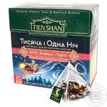 Чай Тянь-Шань 1001 Ночь черный и зеленый 20 пакетиков пирамидок