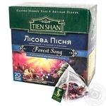 Чай Тянь-Шань Лесная песня черный с ягодами и цветами 20 пакетиков пирамидок
