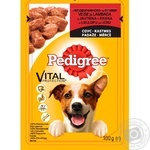 Pedigree for puppies in sauce with beef and lamb food 100g