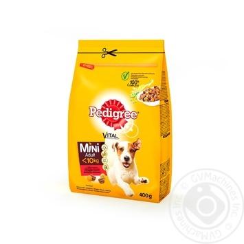 Корм сухой Pedigree для малых собак говядина овощи 400г