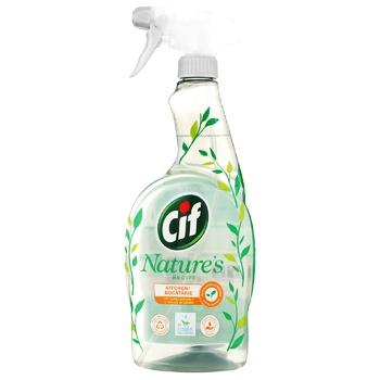 Засіб для прибирання кухні Cif Могутня природа з екстрактом лимону 750мл - купити, ціни на Novus - фото 1