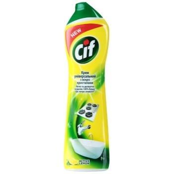 Cif Active Lemon Universal Cleaning Cream 500ml - buy, prices for CityMarket - photo 1