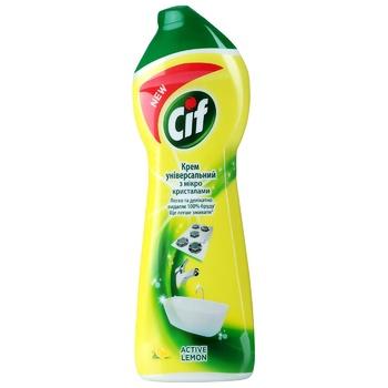 Cream cleaner Cif Active Lemon 250ml - buy, prices for CityMarket - photo 1