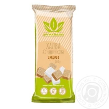 Халва Дружковская подсолнечная сахарная 200г - купить, цены на Novus - фото 1