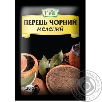Перец Эко черный молотый 20г - купить, цены на Novus - фото 1