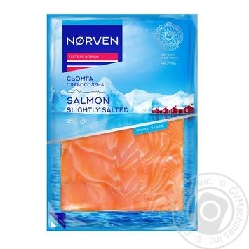 Семга Norven слабосоленая нарезанная 180г - купить, цены на Восторг - фото 1