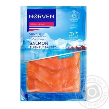 Семга Norven слабосоленая нарезанная 120г - купить, цены на МегаМаркет - фото 1