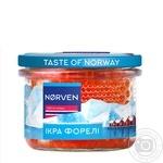 Iкра лососева Norven форелі зерниста 210г - купити, ціни на МегаМаркет - фото 1