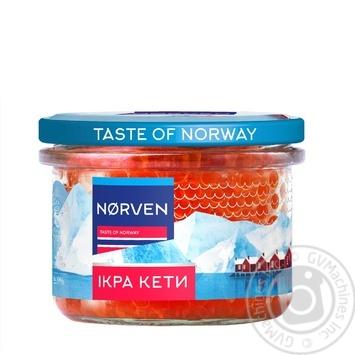 Икра лососевая Norven кеты зернистая 200г - купить, цены на Восторг - фото 1