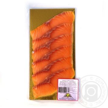 Рыба семга Риф слабосоленая 90г вакумная упаковка Украина