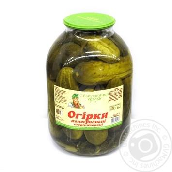 Овощи огурцы корнишоны С бабушкиной грядки консервированная 3000г стеклянная банка Украина