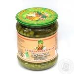 Овочі горох З бабусиної грядки зелений консервована 510г скляна банка Україна