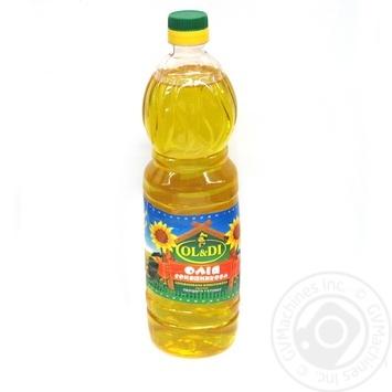 Олія Ол і ді соняшника нерафінована 900мл пластикова пляшка Україна