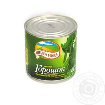Green pea Schedra niva 420g can Ukraine