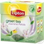 Зеленый чай Липтон Жасмин байховый ароматизированный с лепестками жасмина в пакетиках 20х1.7г