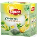 Green tea Lipton Lemon Melissa with lemon zest and melissa petals 20х1.6g